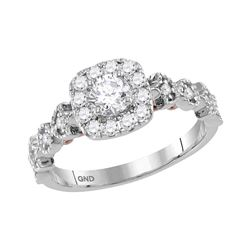 0.75 CTW Diamond Solitaire Bellina Bridal Engagement Ring 14KT Two-tone Gold - REF-112F5N