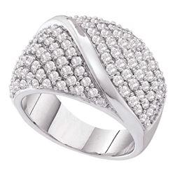 2 CTW Diamond Fashion Ring 14KT White Gold - REF-194H9M