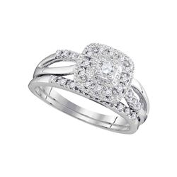 0.33 CTW Diamond Bridal Wedding Engagement Ring 10KT White Gold - REF-44X9Y