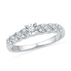 0.20 CTW Diamond Solitaire Bridal Ring 10KT White Gold - REF-20W9K