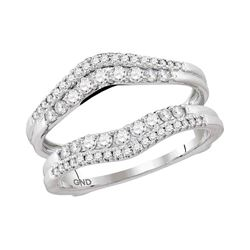 0.49 CTW Diamond Ring 14KT White Gold - REF-67X4Y