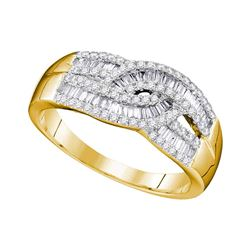 0.65 CTW Diamond Fashion Ring 10KT Yellow Gold - REF-41F9N