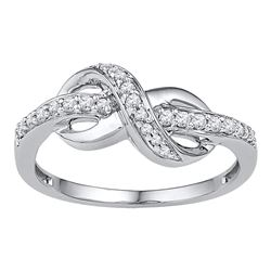 0.20 CTW Diamond Infinity Ring 10KT White Gold - REF-26Y9X