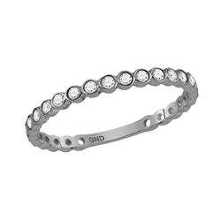 0.18 CTW Diamond Stackable Ring 10KT White Gold - REF-18F2N