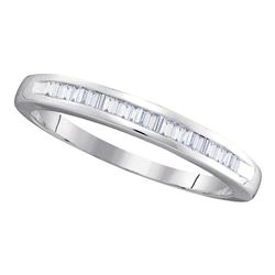 0.25 CTW Diamond Wedding Ring 14KT White Gold - REF-18N2F