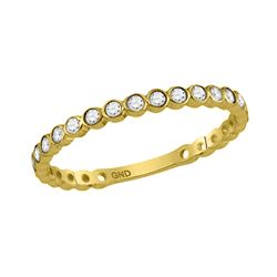 0.18 CTW Diamond Stackable Ring 10KT Yellow Gold - REF-18M2H