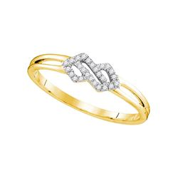 0.08 CTW Diamond Cluster Ring 10KT Yellow Gold - REF-11M2H