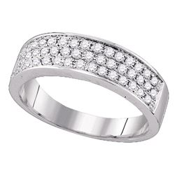 0.49 CTW Diamond Ring 10KT White Gold - REF-41H9M