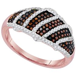 0.40 CTW Red Color Diamond Ring 10KT Rose Gold - REF-49F5N
