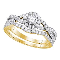 1 CTW Diamond EGL Bridal Wedding Engagement Ring 14KT Yellow Gold - REF-101N2F