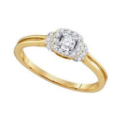 0.25 CTW Diamond Solitaire Bridal Engagement Ring 10KT Yellow Gold - REF-26N9F