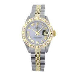Rolex Pre-owned 26mm Womens Custom Grey Two Tone - REF-520R3M