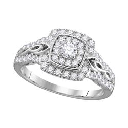 0.75 CTW Diamond Solitaire Bridal Engagement Ring 14KT White Gold - REF-71Y3X