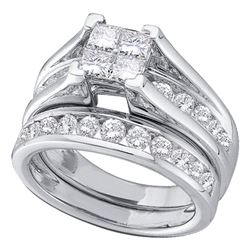 0.47 CTW Princess Diamond Bridal Engagement Ring 10KT White Gold - REF-37K5W