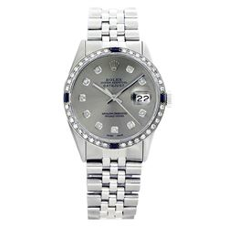 Rolex Pre-owned 36mm Mens Grey Stainless Steel - REF-580N3H