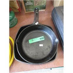 2 Cast Iron Fry Pans