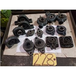 Lot of Assorted Bearing block
