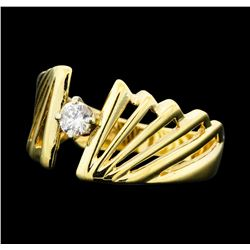 0.15 ctw Diamond Solitaire Ring - 14KT Yellow Gold