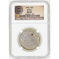 1946 Iowa Centennial Commemorative Half Dollar Coin NGC MS66