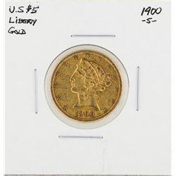 1900-S $5 Liberty Head Half Eagle Gold Coin
