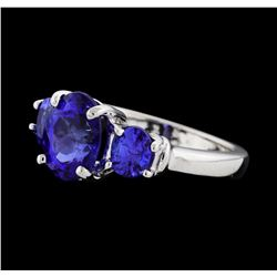 2.59 ctw Tanzanite Ring - Platinum