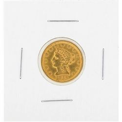 1853 $2 1-2 Liberty Gold Coin AU