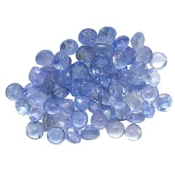 9.31 ctw Round Mixed Tanzanite Parcel