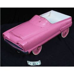 Antique Vintage Pink Pedal Car c.1930-50's