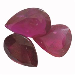 12.57 ctw Pear Mixed Ruby Parcel