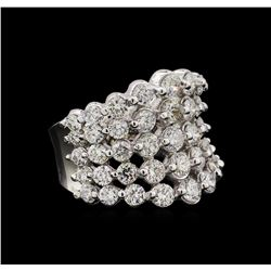 14KT White Gold 5.15 ctw Diamond Ring