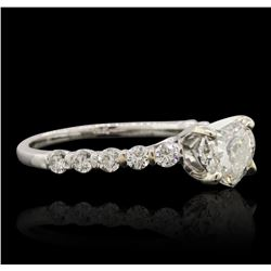 14KT White Gold EGL Certified 1.53 ctw Diamond Ring