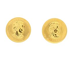 COINS:  [2] Canadian Gold Maple Leaf twenty dollar 1/2 ounce (.9999 fine) gold coins;  [assorted dat