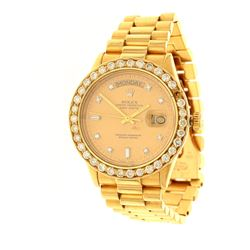 WATCH:  [1] 18 karat yellow gold gents Rolex Oyster Perpetual Day-Date President watch with an after