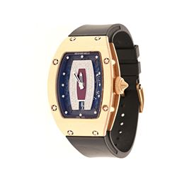 WATCH:  [1] 18 karat rose gold ladies Richard Mille Automatic watch with an exhibition case back, cr