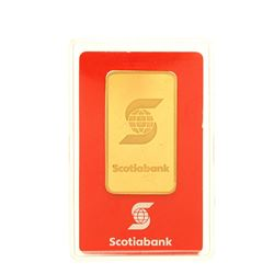 BULLION: [1] Valcambi Suisse 1 troy oz. 999.9 gold bar #AA064704