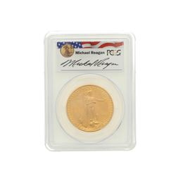 COIN: [1] 1993 $50 Reagan Legacy Series gold coin; PCGS MS 69, 31939168