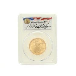 COIN: [1] 1990-P $25 Reagan Legacy Series gold coin; PCGS PR 69; 80678828