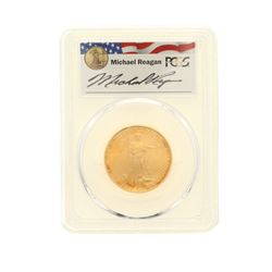COIN: [1] 2007-W $25 Burnished Statue of Liberty, Reagan Legacy Series Gold Eagle coin, 1/4 oz, PCGS