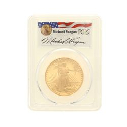 COIN: [1] 1991-W $50 Reagan Legacy Series Gold Eagle Coin; PCGS PR 69; 3316106