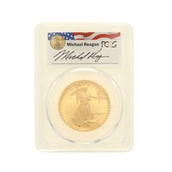 COIN: [1] 1987-W $50 Reagan Legacy Series Gold Eagle Coin; PCGS PR 69; 33534401