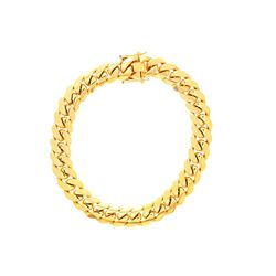 """NECKLACE: [1] 14 karat yellow gold Cuban Link chain necklace;  20.7mms x 18""""s; 580.5 grams"""