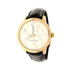 WATCH: [1] 18kr Maurice Lacroix Masterpiece Calendrier Retrograde watch, 43mm case, white dial with