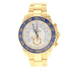 WATCH: [1] 18kt yellow gold Men's Rolex Oyster Perpetual Yacht-Master II Chronograph wristwatch; Blu