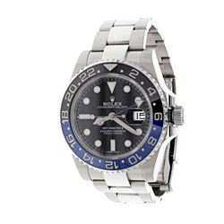 WATCH: [1] Man's Rolex Oyster Perpetual GMT Master DateJust watch, 40.0mm case, black dial, blue rot