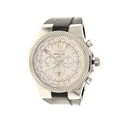 WATCH: [1] St.steel Breitling for Bentley 100M watch; 49mm case, ivory dial with three sub dials, da