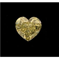[1] Heart shaped fancy yellow diamond, approximately 12.00 x 5.91mm, 5.90 carats; (GIA Report Inform