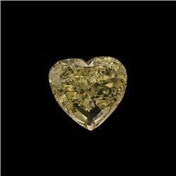 [1] Heart shaped fancy yellow diamond, approximately 11.61 x 5.39mm, 5.04 carats; (GIA Report Inform