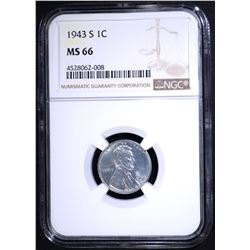 1943-S LINCOLN CENT NGC MS-66