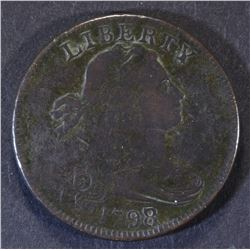 1798/7 LARGE CENT  VF
