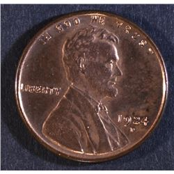 1924-D LINCOLN CENT  GEM RED